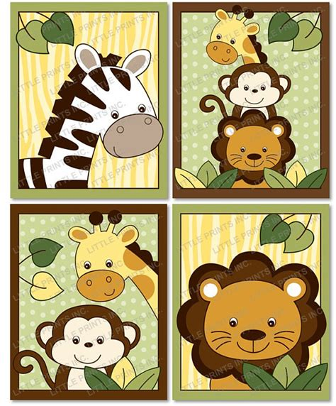 printable animal pictures for nursery safari jungle animal nursery wall art printable instant