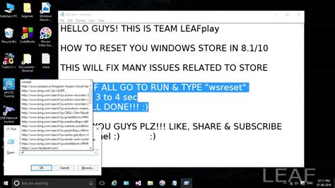 resetting windows store how to reset your windows store in windows 8 8 1 10 youtube