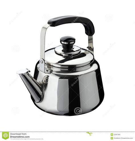 Kettle Kitchen by Kitchen Tools Kettle On Stainless Steel Stock Image