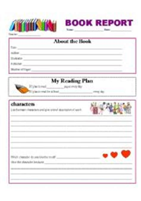 esl book report esl worksheets for beginners book report