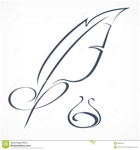 tattoo pen vector inkwell and quill clipart clipart suggest