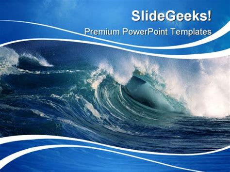 powerpoint templates free download ocean wave beauty powerpoint template 0910