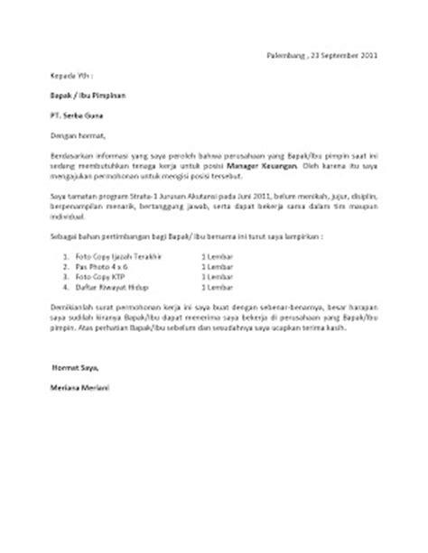 contoh surat lamaran liputan informasi