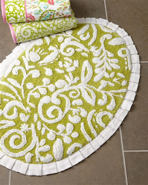 Floral Bathroom Rugs by Dena Home Dena Floral Jacquard Bath Rug