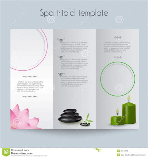 editable brochure templates free tri fold spa brochure mock up royalty free stock photos