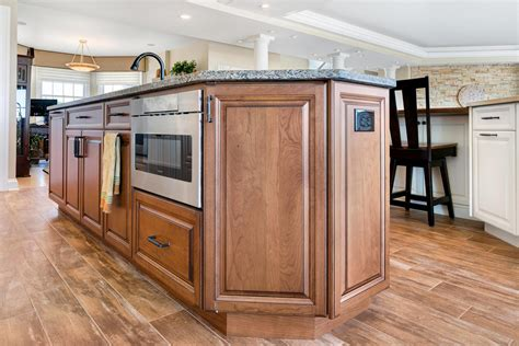 kitchen island with microwave drawer great kitchen design spring lake new jersey by design line