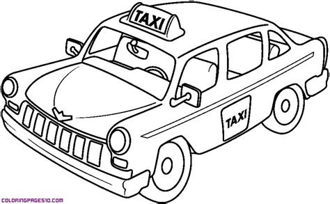 taxi car coloring page a taxi for coloring