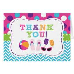 pool thank you cards zazzle
