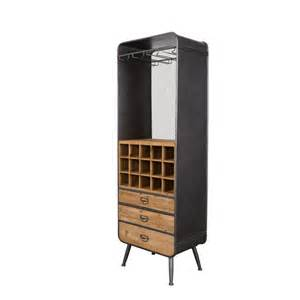 armoire bar 224 vins m 233 tal et bois vino dutchbone drawer