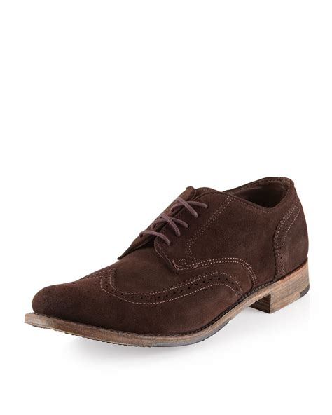 vintage shoe company oxfords vintage shoe company langdon suede oxford chocolate in