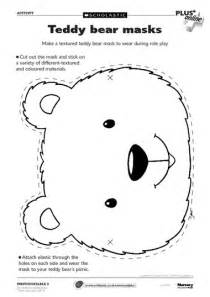 teddy template to print early play templates teddy mask templates to print out