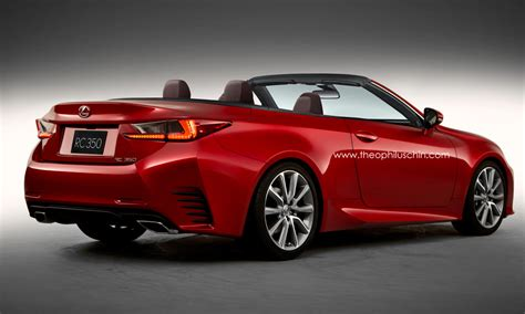 New Lexus Convertible by New Lexus Rc Rendered As Convertible Autoevolution
