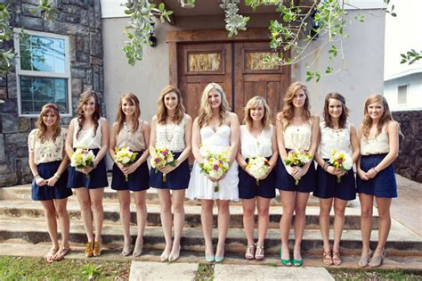 Were The Same But One Wears A Skirt by Bridesmaid Dresses Rooted In