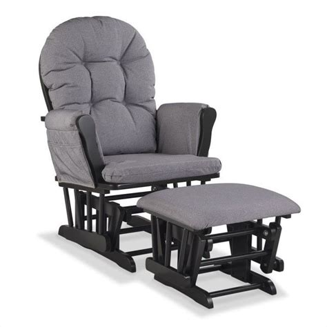 custom glider and ottoman in black and slate gray 06550 615b