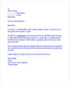 Complaint Letter For Loss Of Mobile 34 Complaint Letter Templates Free Premium Templates
