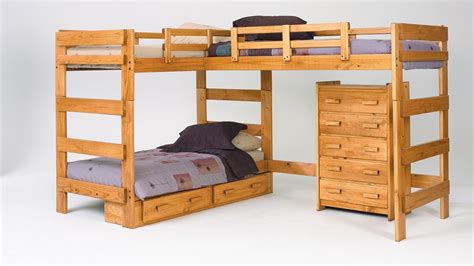 bunk beds wooden modern wooden bunk beds nature style room ideas