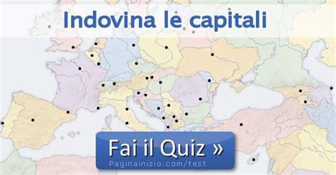 pagina inizio test test indovina le capitali mondiali