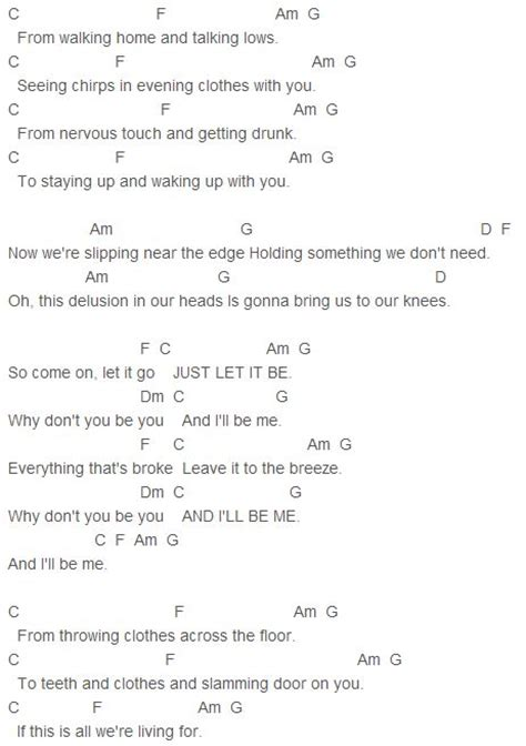 ugly pattern lyrics james bay let it go chords capo 1 james bay pinterest
