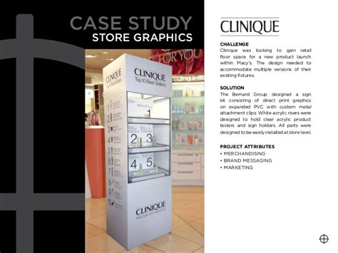 store layout design and visual merchandising case study the bernard group graphics printing signs design of
