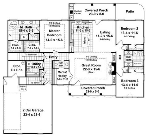 single story house plans with basement single story walkout basement house plans archives new