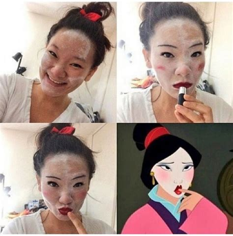 tutorial gambar princess body and mind tutorial makeup lucu ubah wajah jadi mirip