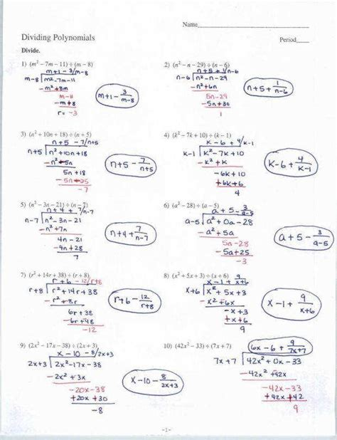 Multiplying And Dividing Rational Expressions Worksheet Answers