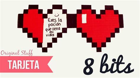 imagenes de corazones de video juegos tarjeta de coraz 243 n 8bits original stuff youtube