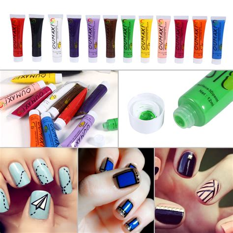 acrylic paint nail ebay 12color set 3d nail paint draw painting