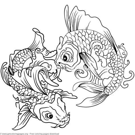koi fish coloring pages 12 koi fish coloring pages getcoloringpages org
