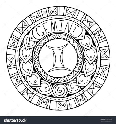 zodiac color zodiac mandala coloring pages coloring page