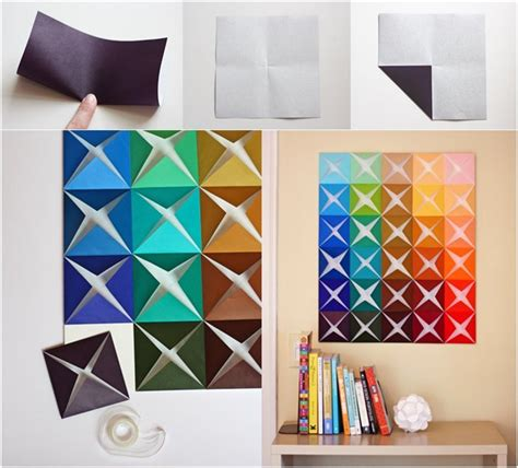 diy paper home decor diy easy folded paper wall art