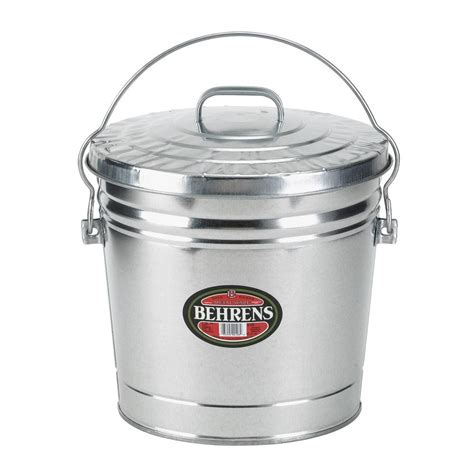 behrens 6 gal galvanized steel trash can with