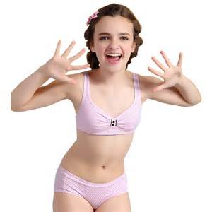 Wholesale wofee 2015 puberty girls cotton bra and pants sets for girls