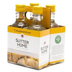 sutter home chardonay 4 pack 187ml bottles wine