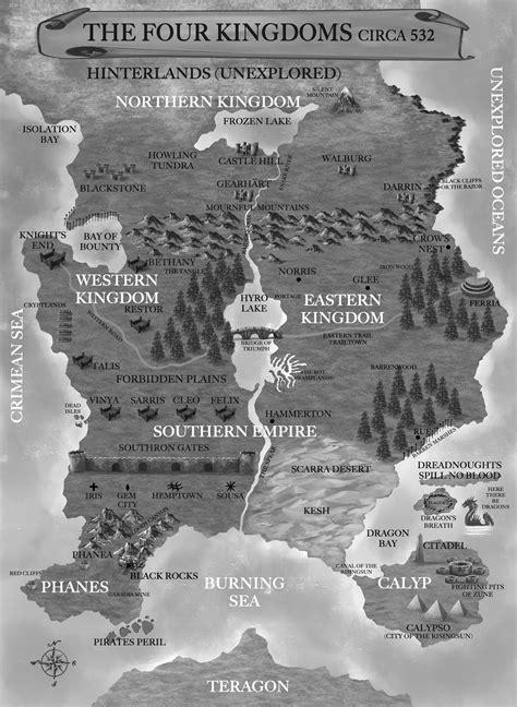 David Estes Books: Fatemarked- Map of the Four Kingdoms