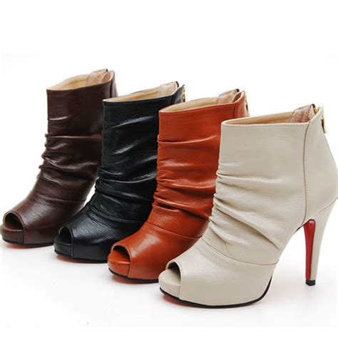 jakm0112 peeptoe womens ankle boots shoes from whirlypop