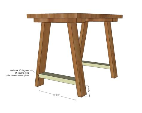 small desk plans free ana white simple small trestle desk diy projects