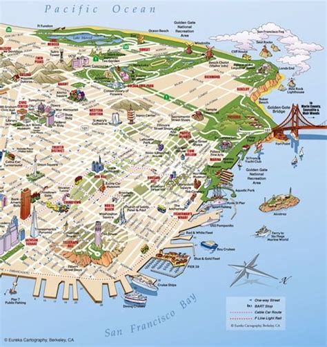 san francisco map berkeley san francisco illustrative map 169 eureka cartography