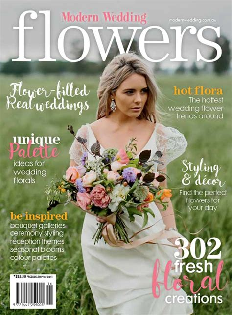 flower wedding magazine modern wedding flowers magazine 18th edition on sale modern wedding