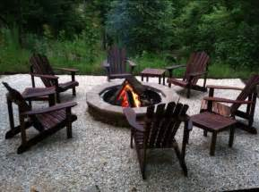 pit with adirondack chairs odena firepit