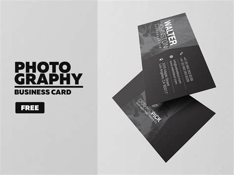 photoshop business card template photographer free photography business card