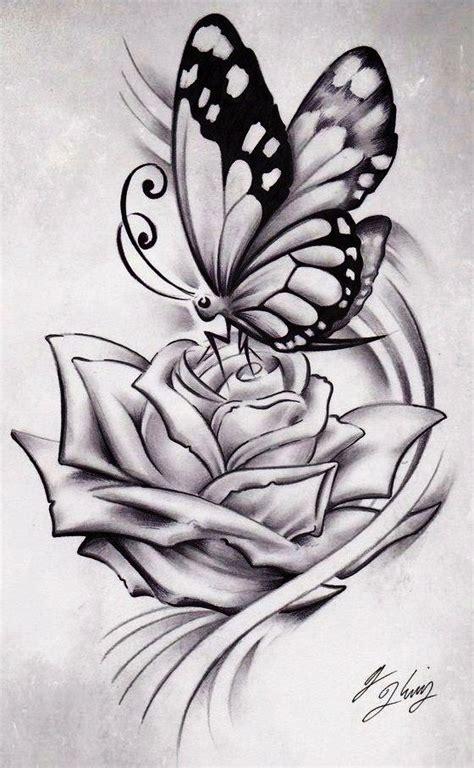butterfly rose tattoo from best ink grey black ink butterfly sketch