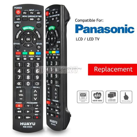 Remote Tv Led Panasonic panasonic lcd led tv remote remote wholesale malaysia huayu rm d920 remote