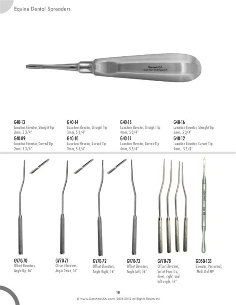 army pattern osteotome equine surgical instruments