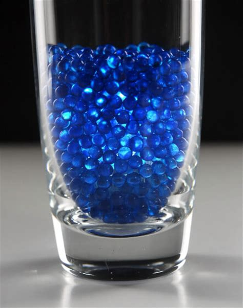 Glass Gems For Vases by Vase Gems Pearl Blue 1lb