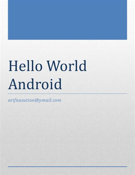 android hello world hello world android v 01
