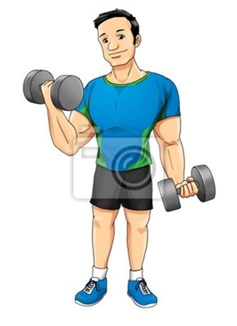 gimnasio en casa c 243 hombres haciendo pesas fotomural ilustraci 243 n de