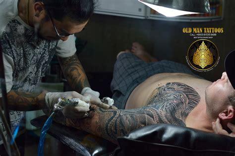 tattoo making process process tattoo making 16 7 2015 old man tattoos phuket