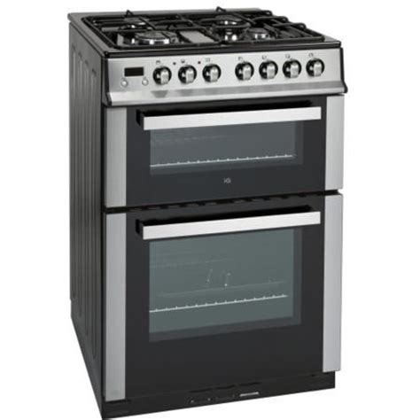 Langseng Nasi 60cm Jumbo Size iq 60cm dual fuel cooker with oven stainless steel iqdfc2w60 appliances direct