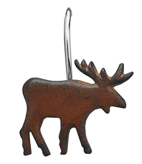 moose shower curtain hooks park designs moose shower curtain hooks set of 12 ebay